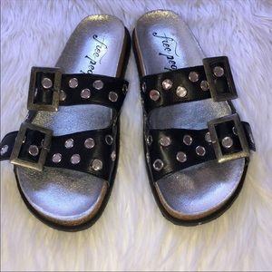 FREE PEOPLE Bali slide sandals NWOT